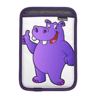purple hippo cartoon iPad mini sleeves