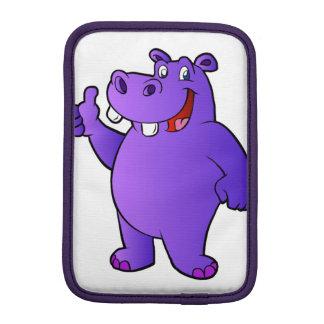 purple hippo cartoon sleeve for iPad mini