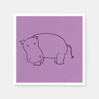 purple hippo napkin disposable napkin
