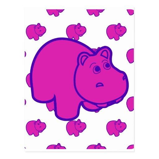 Purple Hippo Postcard