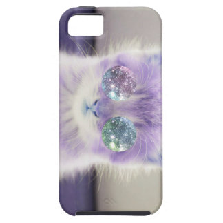 Purple Hipster Kitten iPhone 5 Covers