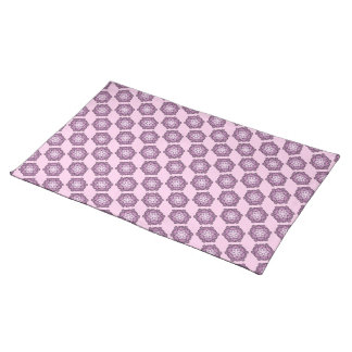 Purple Honeycomb Placemats