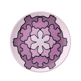 Purple Honeycomb Plate