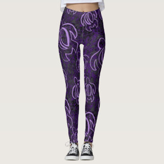 Purple Honu Leggings