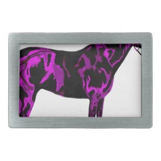 Purple Horse Art Belt Buckles