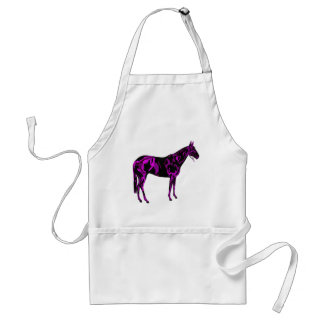 Purple Horse Art Standard Apron