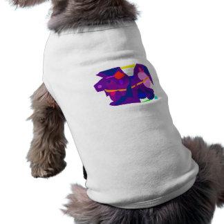 Purple Horse Sleeveless Dog Shirt