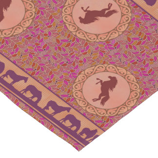 Purple Horses Table Runner