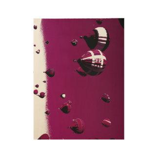 Purple Hot Air Balloon Wood Poster