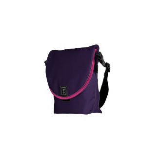 Purple Hot Pink Zebra animal print Courier Bags