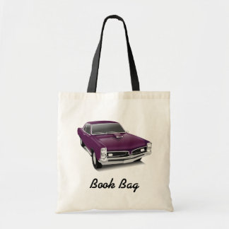 Purple hot rod book bag