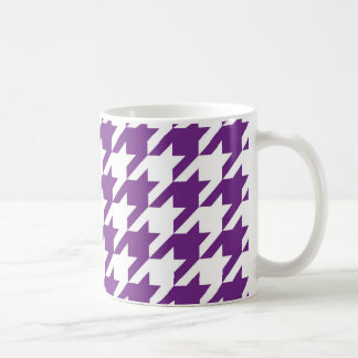 Purple Houndstooth Coffee Mug