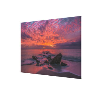 Purple Hour Glow Canvas Print