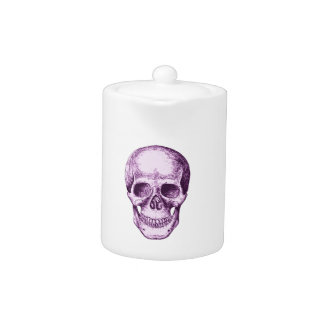 Purple Human Skull