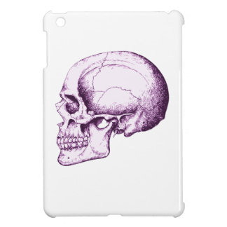 Purple Human Skull. Side Case For The iPad Mini