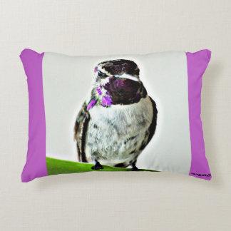 Purple Hummer Accent Pillow