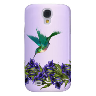 Purple Hummingbird i Samsung Galaxy S4 Covers