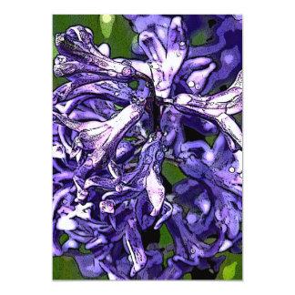"Purple Hyacinth  Invitation 5"" X 7"" Invitation Card"