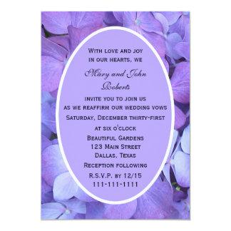 Purple Hydrangea Blossoms Vow Renewal 13 Cm X 18 Cm Invitation Card