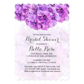 Purple hydrangea bridal shower invite hydrangea4