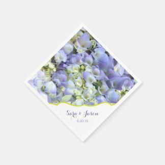 Purple Hydrangea Customizable Wedding Disposable Serviette