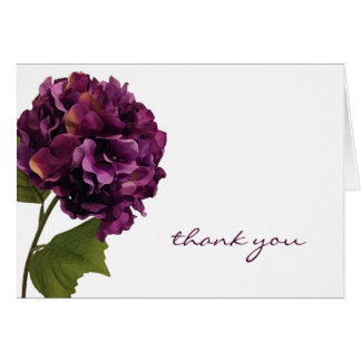 Purple Hydrangea - floral thank you notes Note Card