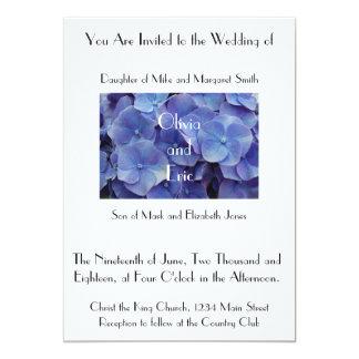 Purple Hydrangea Flower Photograph Invitation