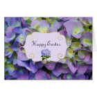 Purple Hydrangea flowers Easter Card