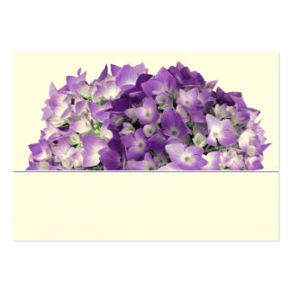 Purple Hydrangea Flowers Wedding Place Cards Business Card Template