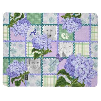 Purple Hydrangea Instagram Photo Quilt Collage Journal
