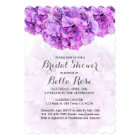 Purple Hydrangea Spring Garden Bridal Shower Card
