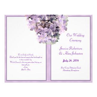 Purple Hydrangea Template Wedding Program 21.5 Cm X 28 Cm Flyer