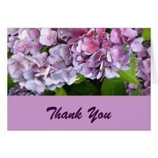 Purple Hydrangea Thank You Card