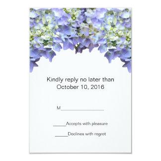 Purple Hydrangea Wedding RSVP 9 Cm X 13 Cm Invitation Card