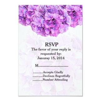 Purple hydrangea wedding RSVP hydrangea4 Card
