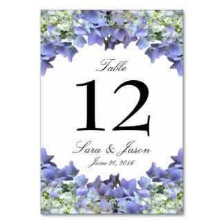 Purple Hydrangea Wedding Table Cards