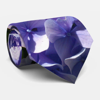 Purple Hydrangeas Tie