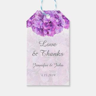 Purple Hydrangeas Wedding Favor Gift Tag