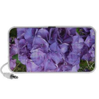 Purple Hydrangia Doodle Personal Speaker