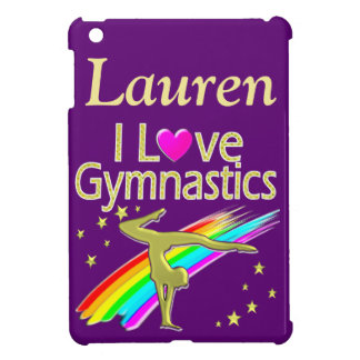 PURPLE I LOVE GYMNASTICS IPAD CASE
