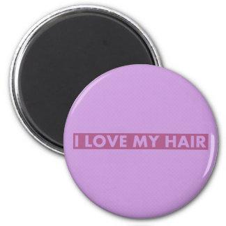 Purple I Love My Hair Bold Text Cutout Magnet