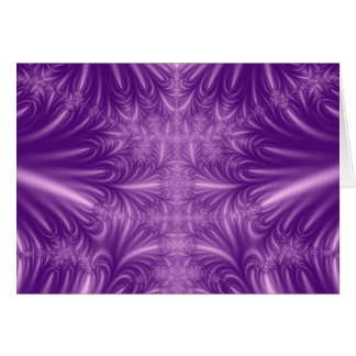 Purple Ice Crystals Greeting Card