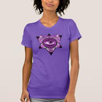 Purple Illuminati Mystical Eye Talisman Symbol T-Shirt