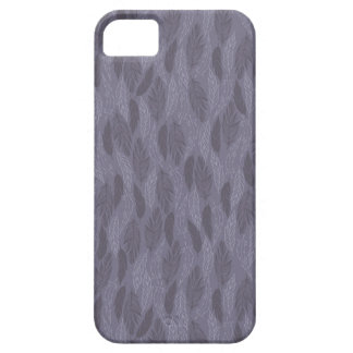 Purple Illustrated Feathers Pattern iPhone 5 Case