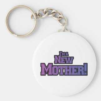 Purple I'm a New Mother Tshirts and Gifts Keychain