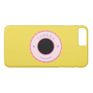 Purple individuality camera & smile iPhone 8 plus/7 plus case