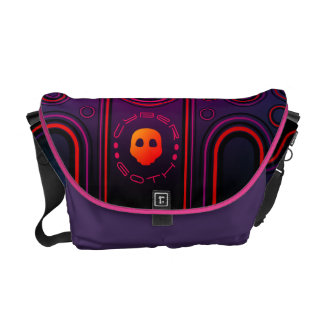 Purple Industrial Cyber Goth Robot Futuristic Commuter Bags