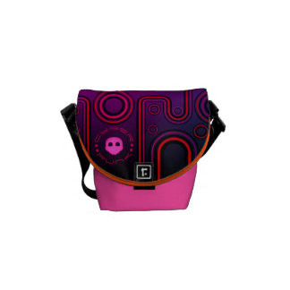 Purple Industrial Cyber Punk Robot Futuristic Courier Bags