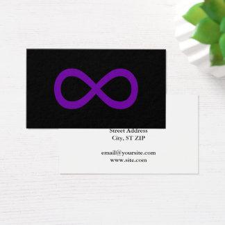 Purple Infinity Symbol Business Card