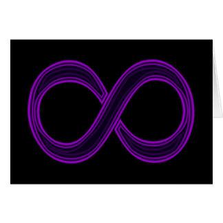 Purple Infinity Symbol Card